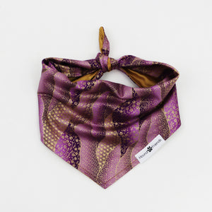 Pokey Purple Reversible Dog Bandana matching with their owners | Hound and Friends