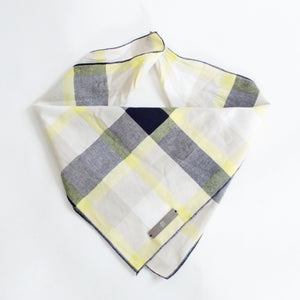 Ro Reversible Tie-on Blue and Yellow Plaids Bandana for Matching Dog Bandanas and Accessories | Hound and Friends
