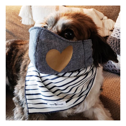 Image of Navy Waffles Face Masks Covers 100% Cotton and Reusable | Hound and Friends