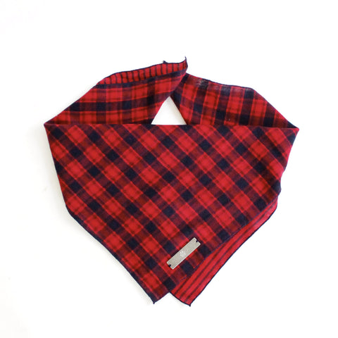 York Reversible Tie On Dog Square Bandana | Hound and Friends
