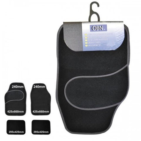 Black Universal Car Mat Set