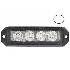LG758 4 LED ECE R65 Grille White Warning Strobe