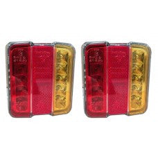 "LG529 4"" Square LED Tail Light Pair"