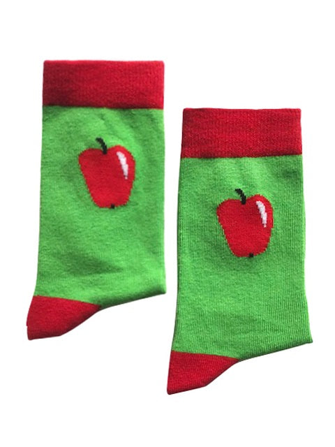 Apple socks - Small-Individuals-[fundraiser]-Jolly Soles