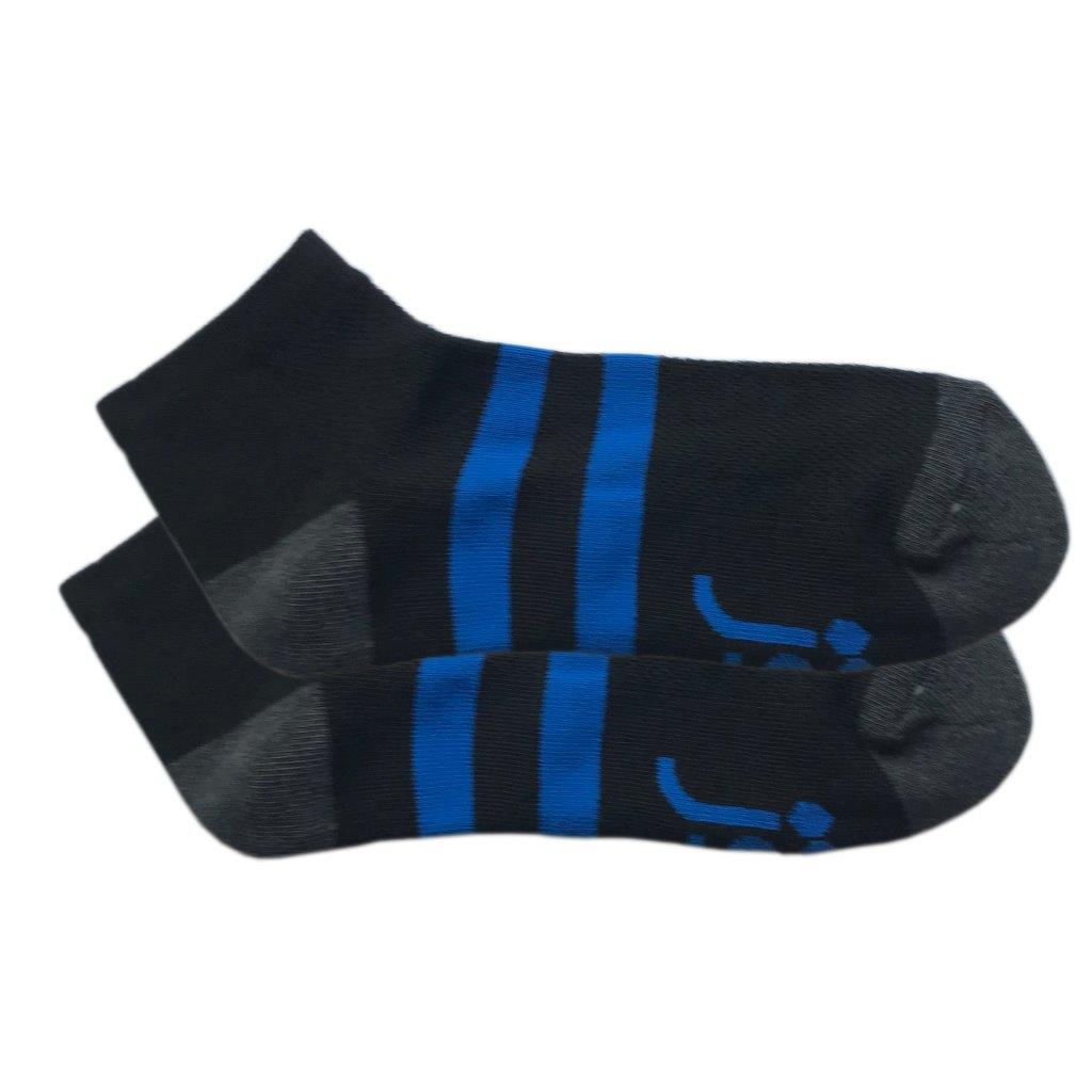 Black with blue band Medium Ankle Sock Jolly Soles