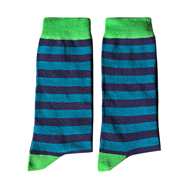 Blue and Green stripe - Extra Large-Individuals-[fundraiser]-Jolly Soles