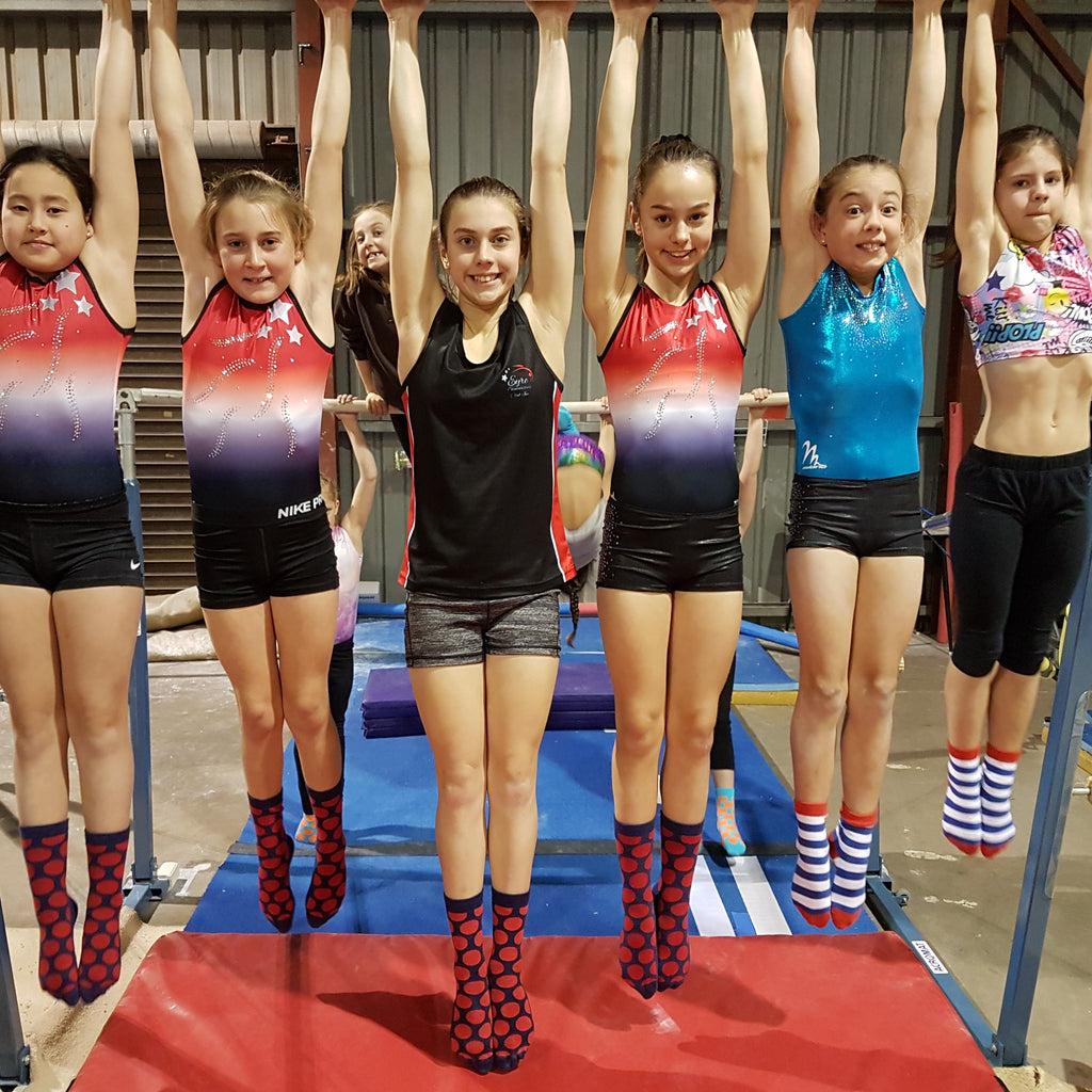 Whyalla Gymnastics club fundraising with Jolly Soles
