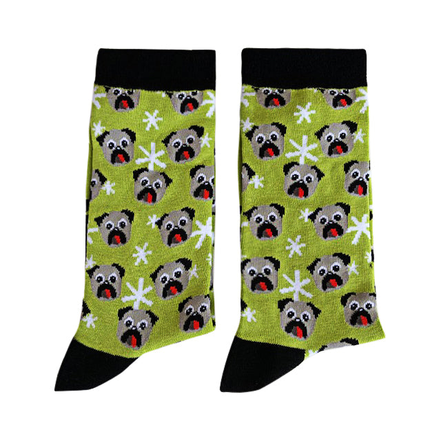 Pug socks - Medium-[fundraiser]-Jolly Soles