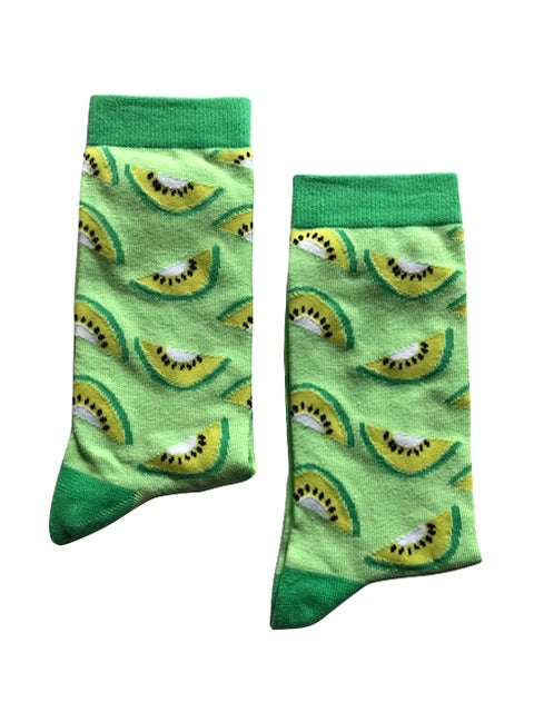 Kiwi Fruit Socks - Medium-Individuals-[fundraiser]-Jolly Soles