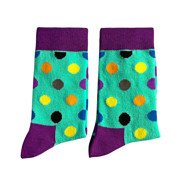 Light blue with coloured spots - Extra Small-Individuals-[fundraiser]-Jolly Soles