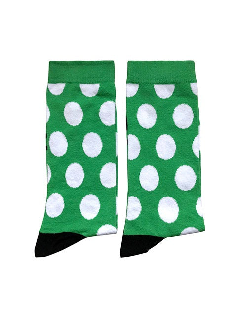 Green with white dots - Large-Individuals-[fundraiser]-Jolly Soles