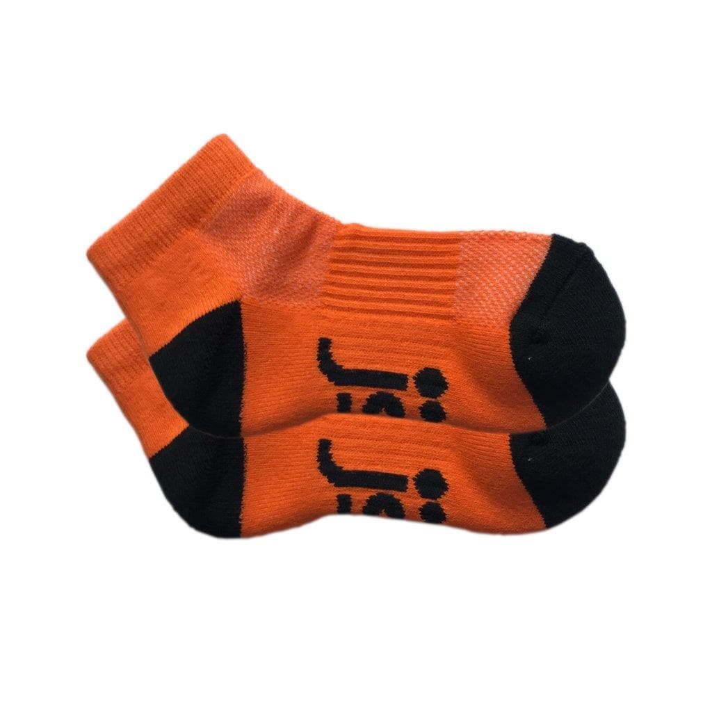 Orange ankle sports sock extra small Jolly Soles