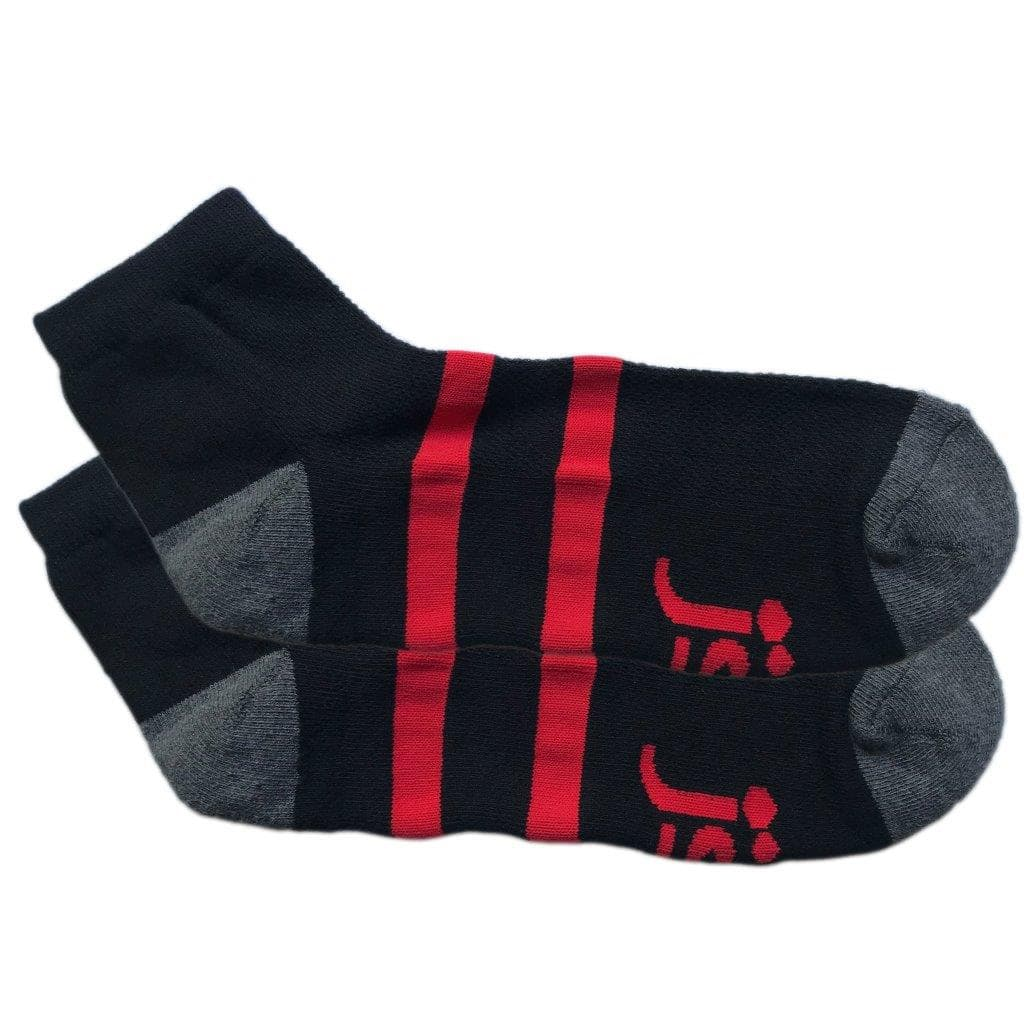 Black with red band ankle socks Large Jolly Soles