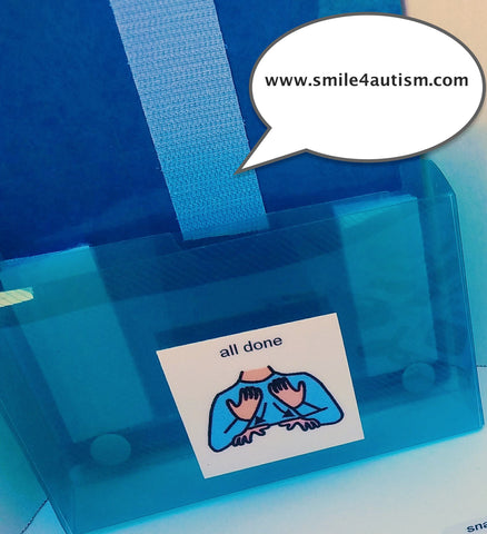 Schedule ONLY- 3D Blue/Teal Envelope for your loose PECS- Apraxia, Autism, Language, ADHD & ABA