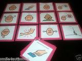 12 RED Emotions Pecs Cards Great for Autism, Asperger, Aprexia & Speech Delay