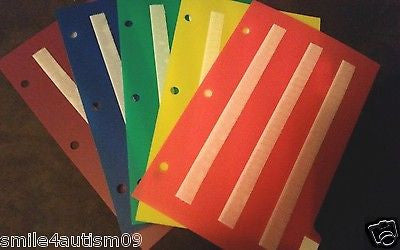 5 DIVIDER SET 4 AUTISM ABA, SPEECH THERAPY, ADHD, LANGUAGE & APRAXIA ASPERGERS
