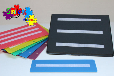 Black Pecs Book with 5 Color Dividers Measured 8.5x5.5 perfect to keep your loose PECS organized