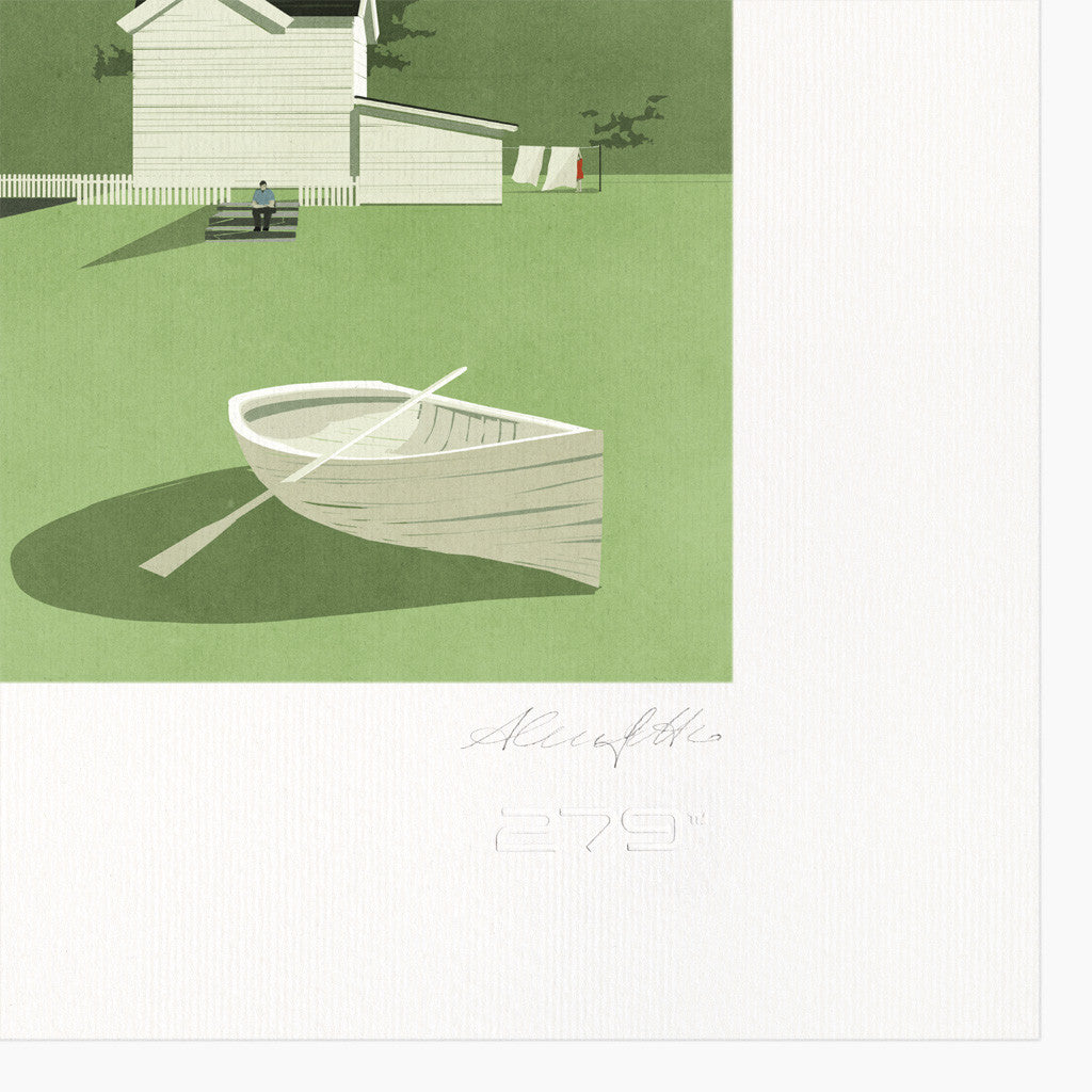 Shout (Alessandro Gottardo) / Untitled (House and Boat)
