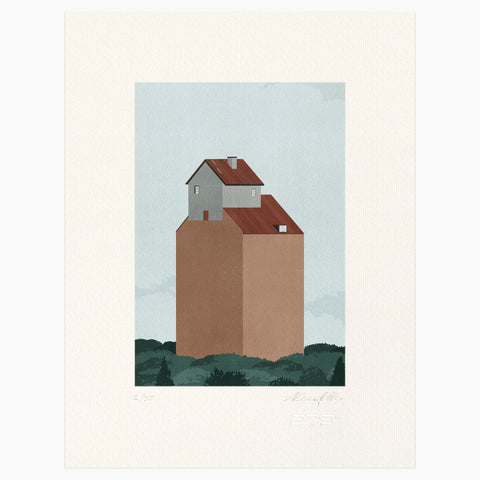 Shout (Alessandro Gottardo) / Untitled (House on Roof)