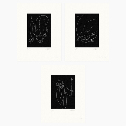 Riccardo Guasco / Moon Series Bundle (three prints)