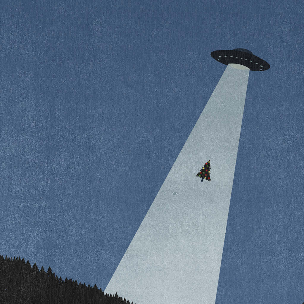 Shout (Alessandro Gottardo) / Untitled (UFO and Christmas Tree)