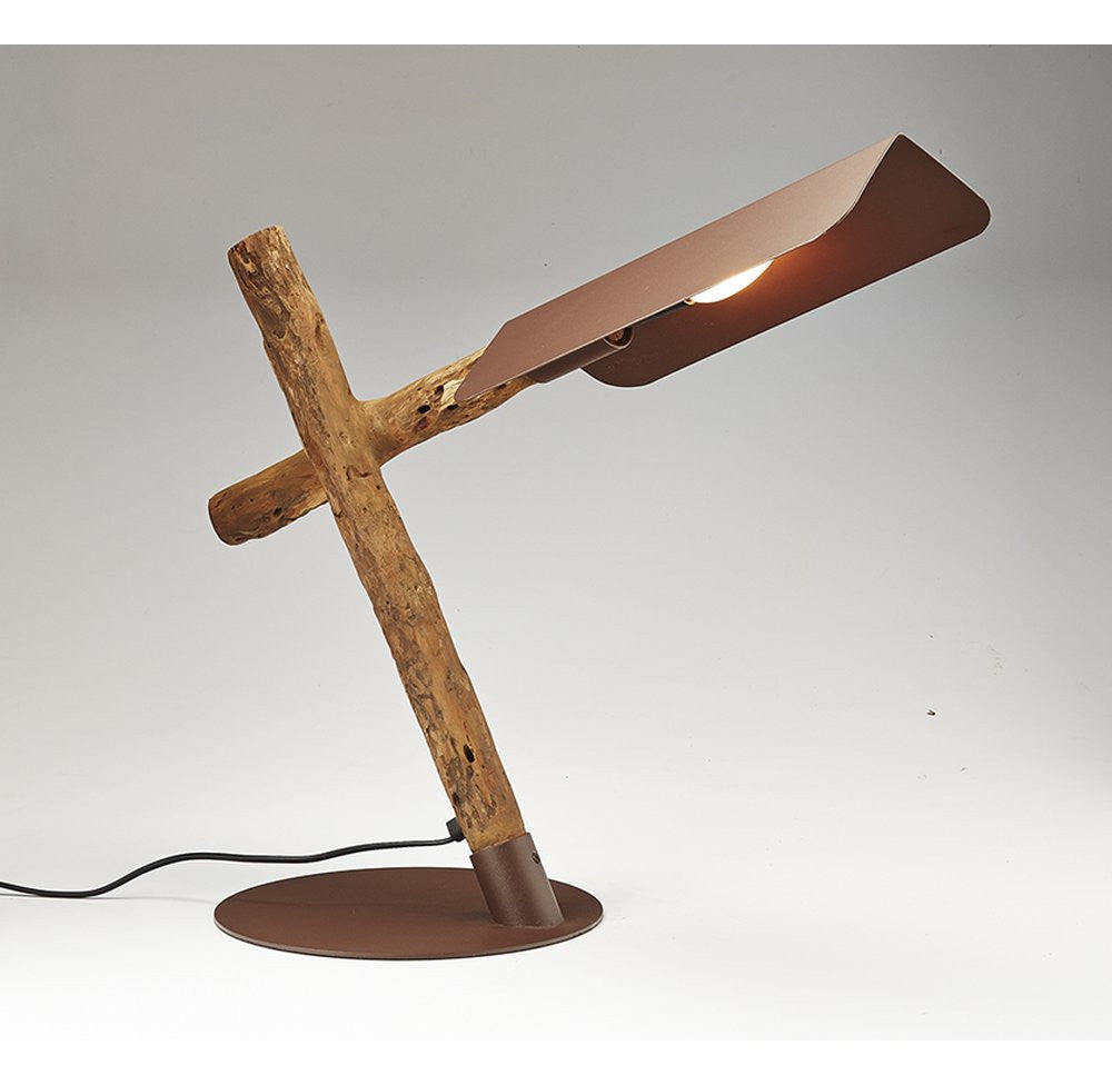 Brown Driftwood Desk Lamp - O'THENTIQUE