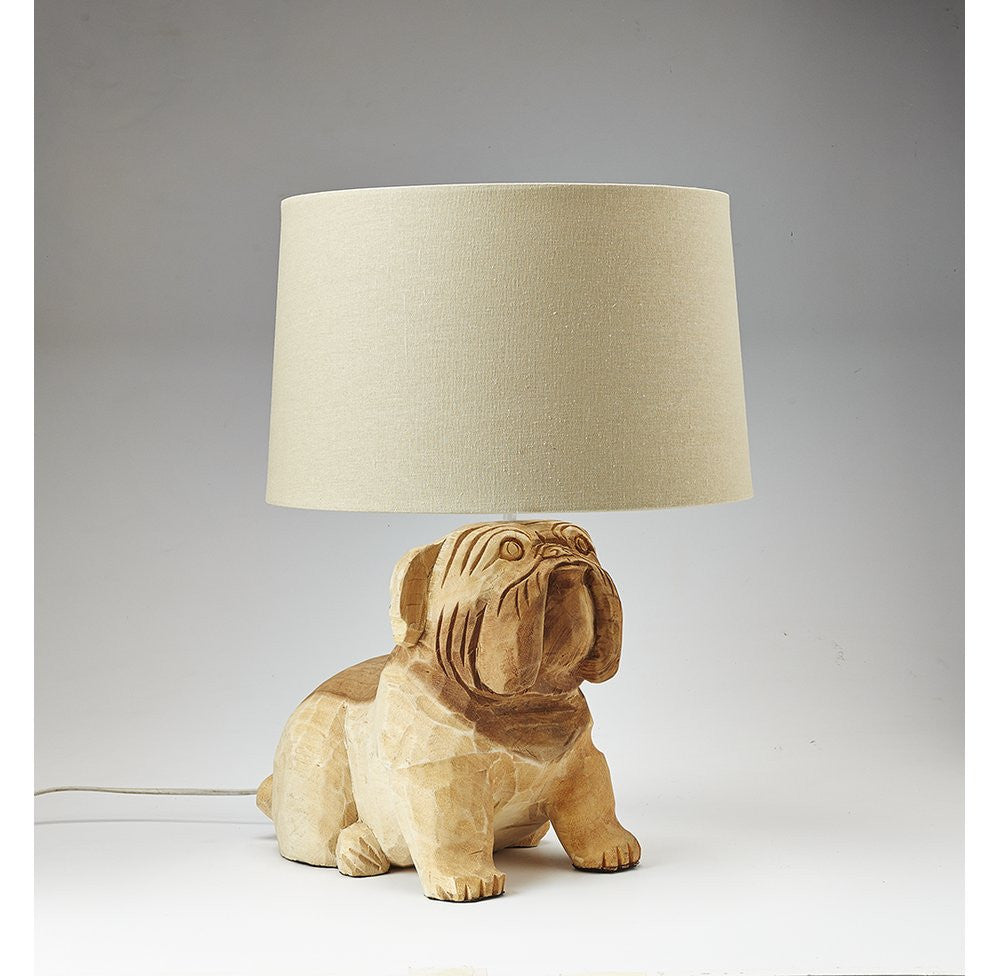 ... Carved Wooden Dog Lamp-OTHENTIQUE-OTHENTIQUE ...