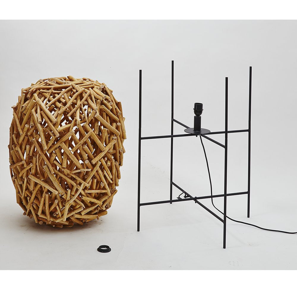 Designer Floor Lamp Wooden Branches - O'THENTIQUE