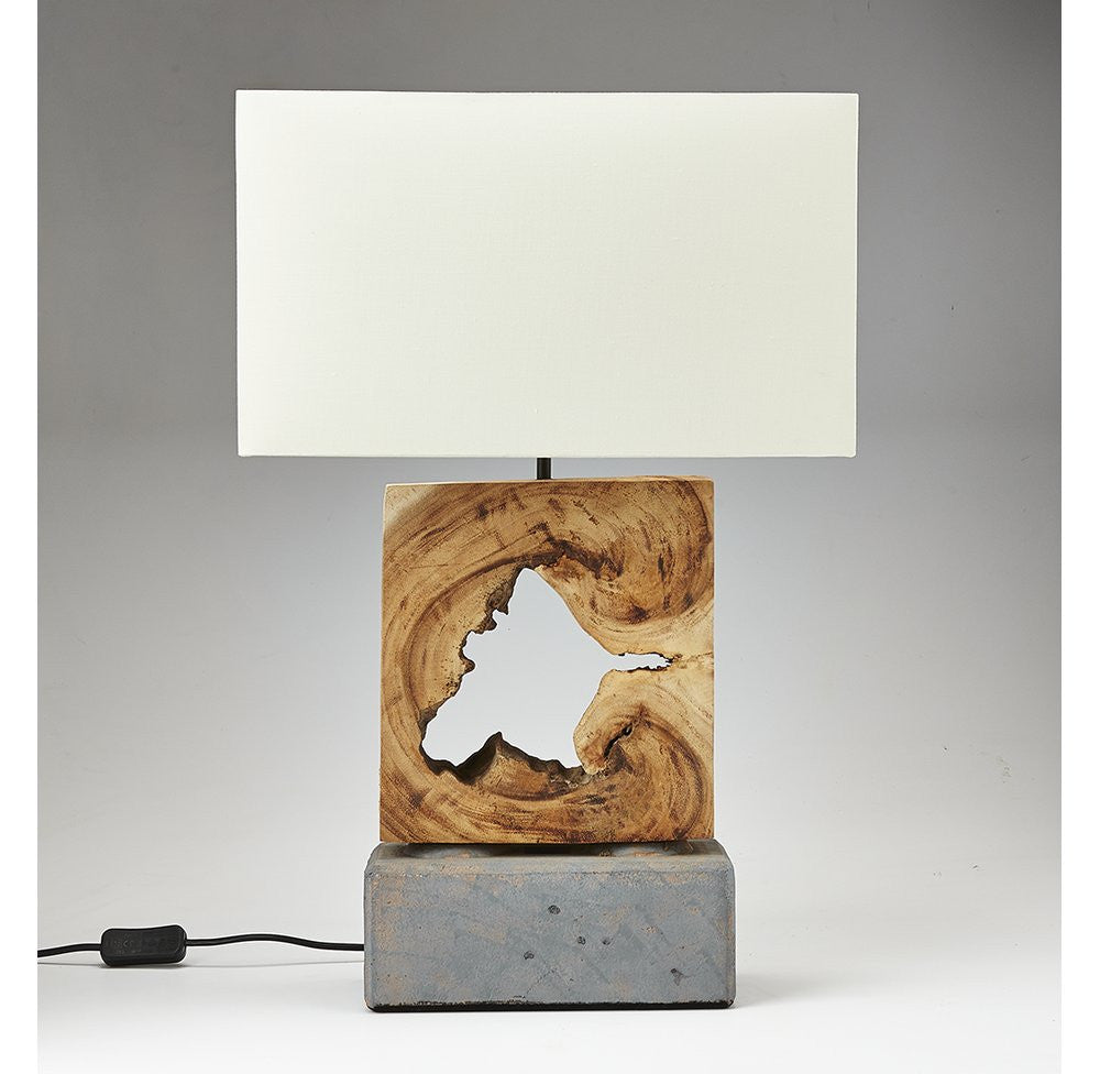 Driftwood and Stone Designer Lamp - O'THENTIQUE