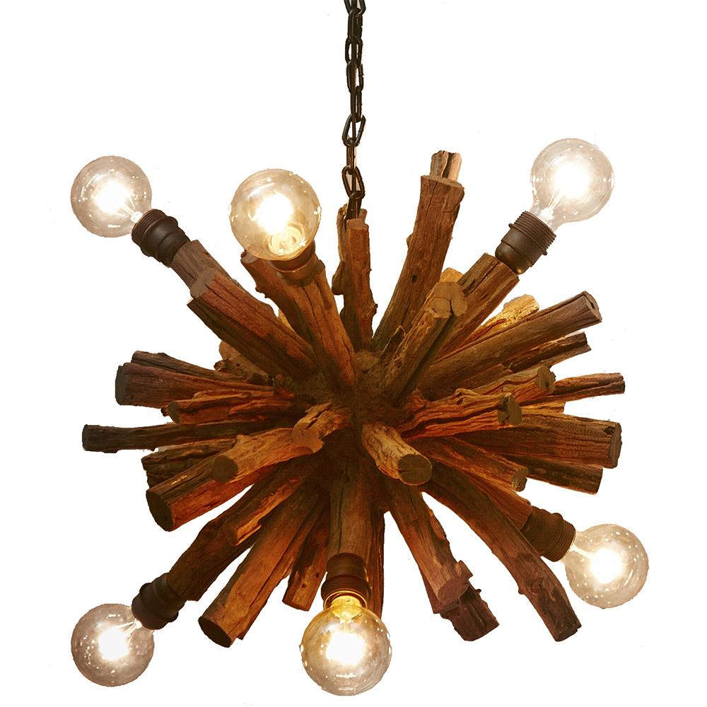 Driftwood Branch Ball Chandelier - O'THENTIQUE