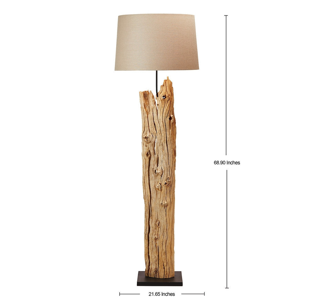 lamp floor modeco driftwood home modish reclaimed drift whitewash tall products by