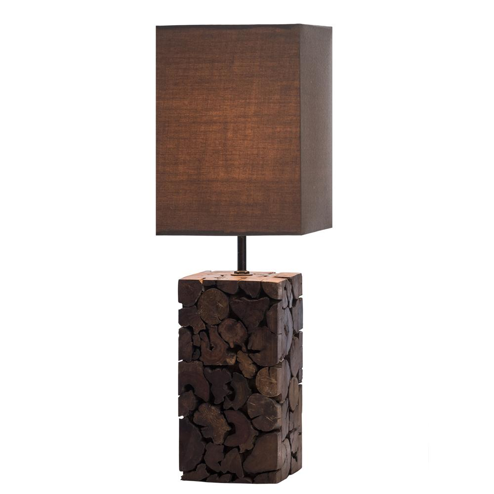 Driftwood Mosaic Wax Table Lamp - O'THENTIQUE