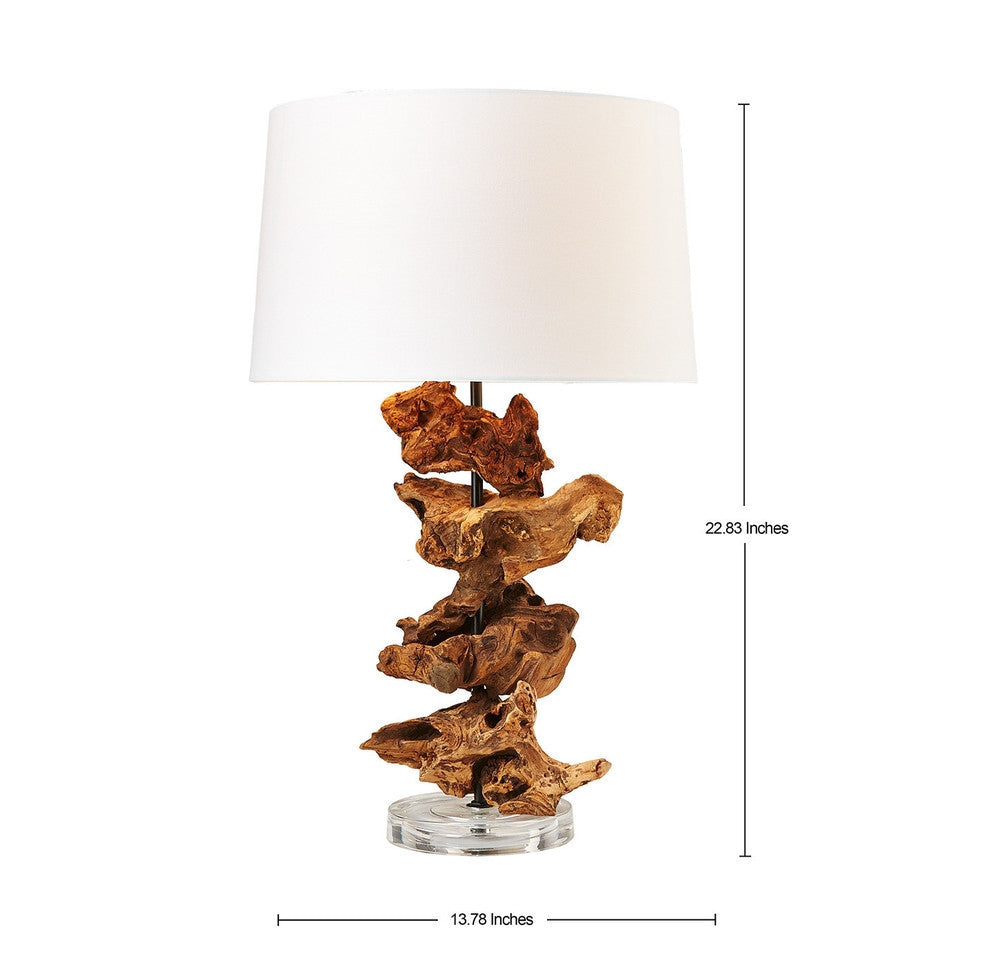 Driftwood Roots Table Lamp Acrylic-OTHENTIQUE-OTHENTIQUE