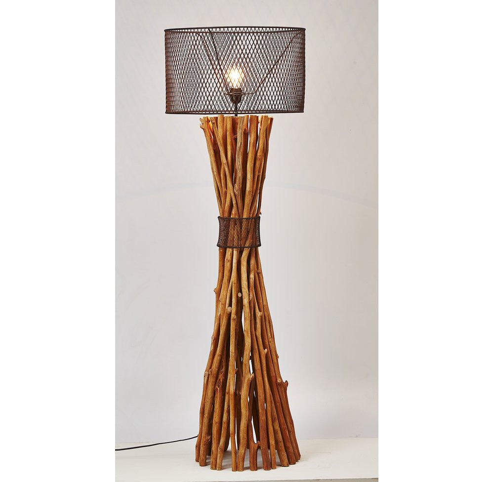 Branches table lamp Natural Industrial Style Driftwood Branches Floor Lamp Othentique Othentique Industrial Style Driftwood Branches Floor Lamp Othentique