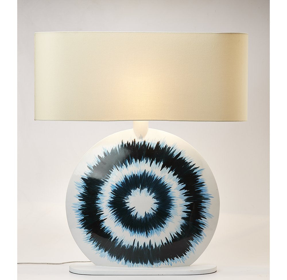 Lacquer-ware Hand Painted Console Lamp - O'THENTIQUE