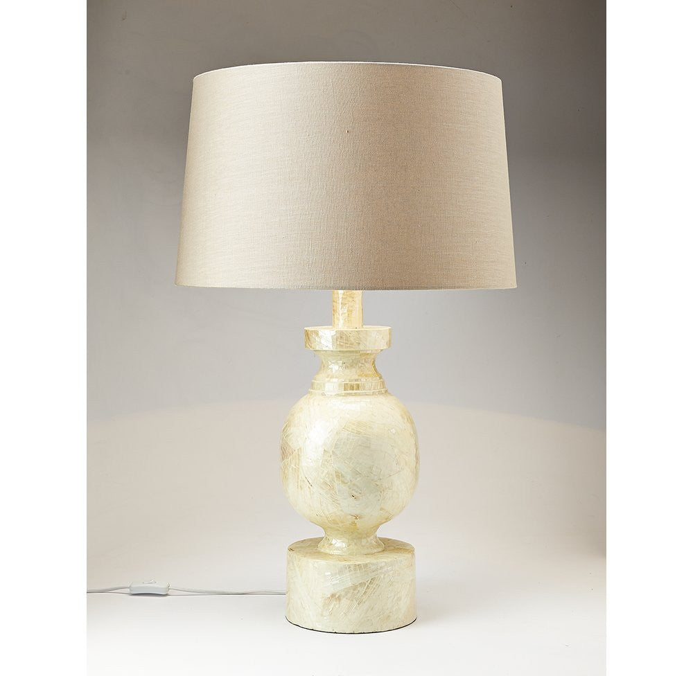 Large Mother of Pearl Table Lamp - O'THENTIQUE