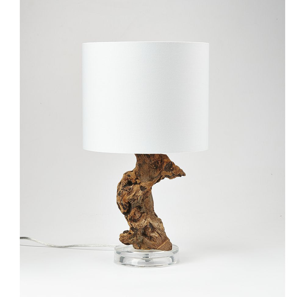 Mini Driftwood Acrylic Base Accent Lamp - O'THENTIQUE