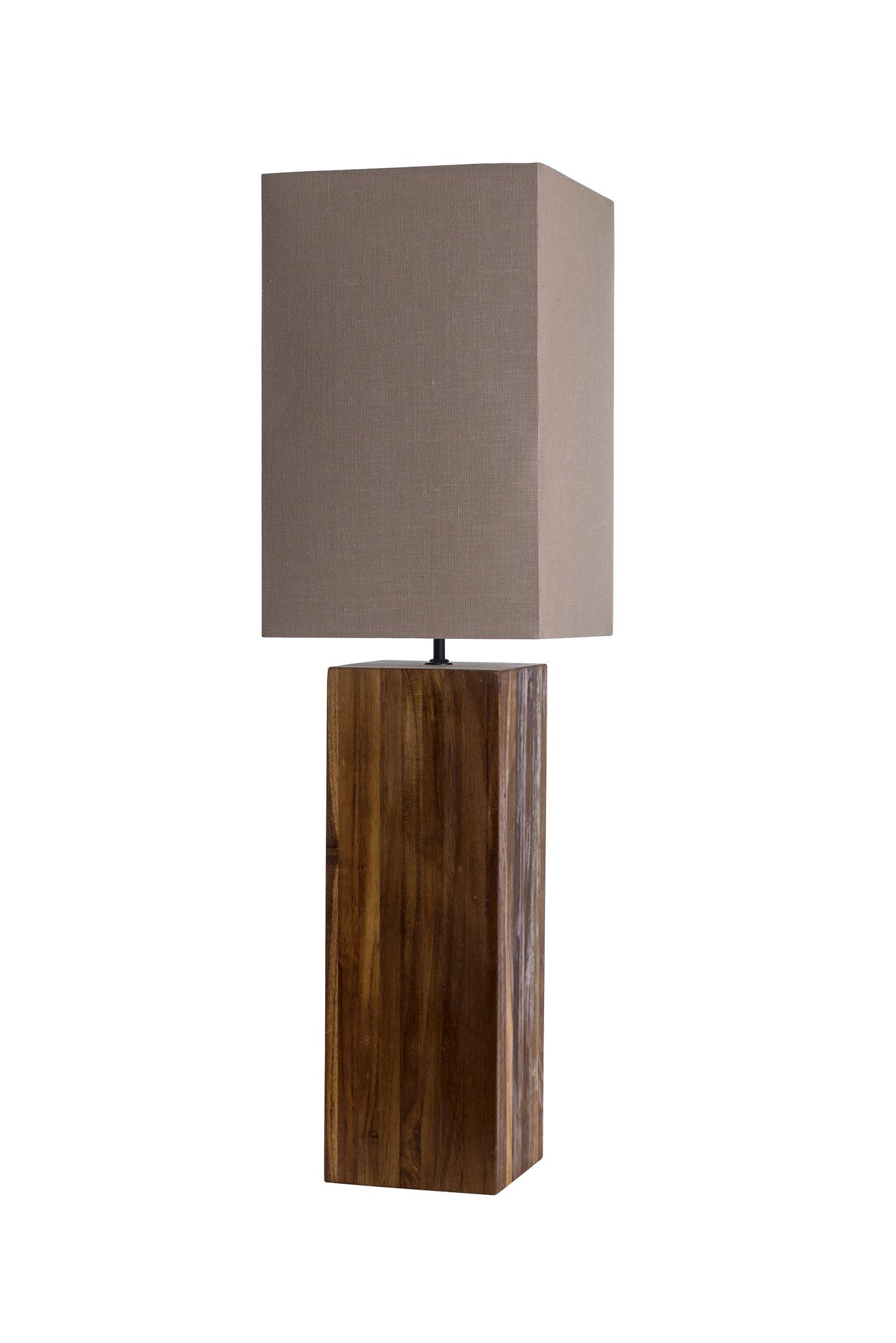Minimalist Solid Oil Teak Wood Table Lamp - O'THENTIQUE