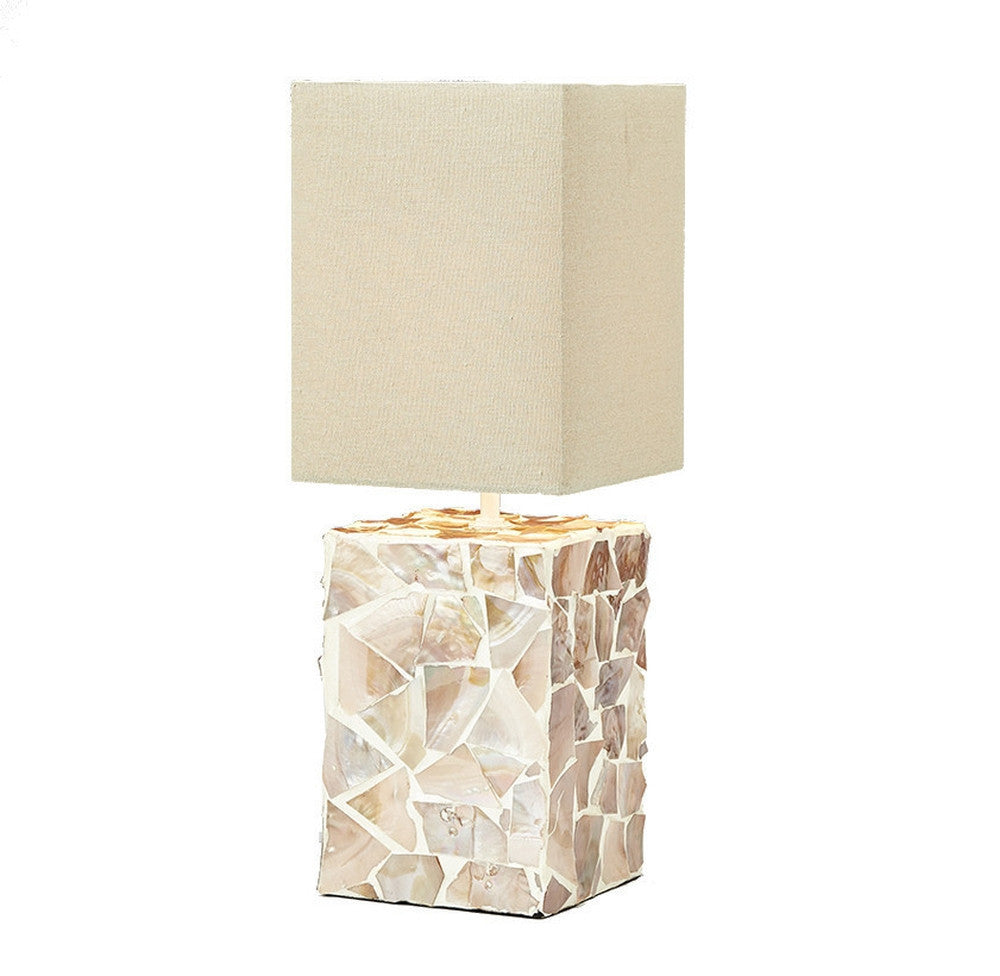 Mother of Pearl Bedside Lamp - O'THENTIQUE