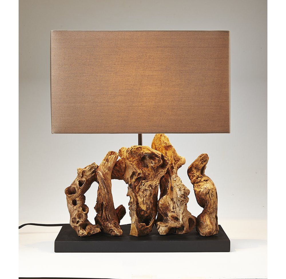 Reclaimed Wood Table Lamp - O'THENTIQUE