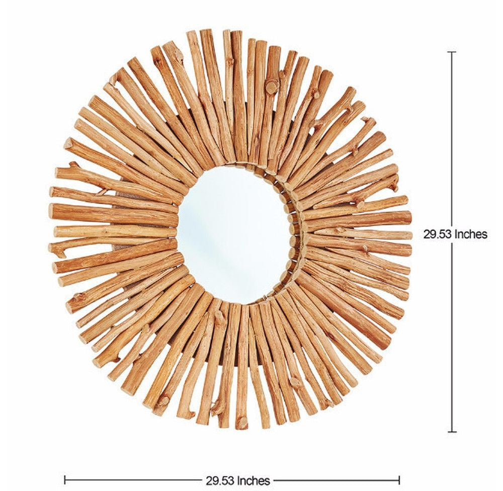 Round Driftwood Mirror - O'THENTIQUE