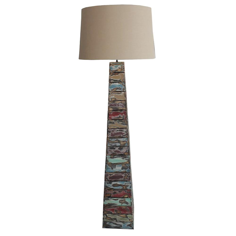 Rustic Driftwood Boat Plank Floor Lamp - O'THENTIQUE