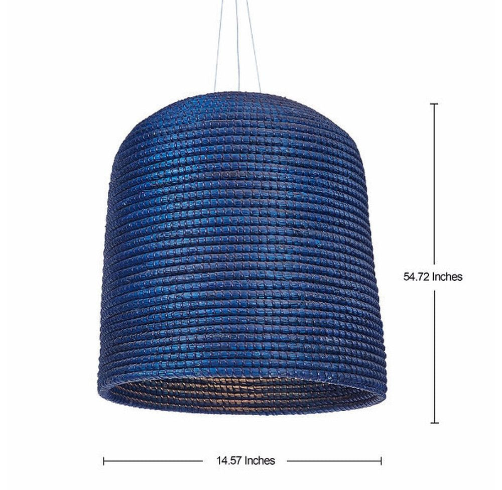 Seagrass Blue Lamp - O'THENTIQUE