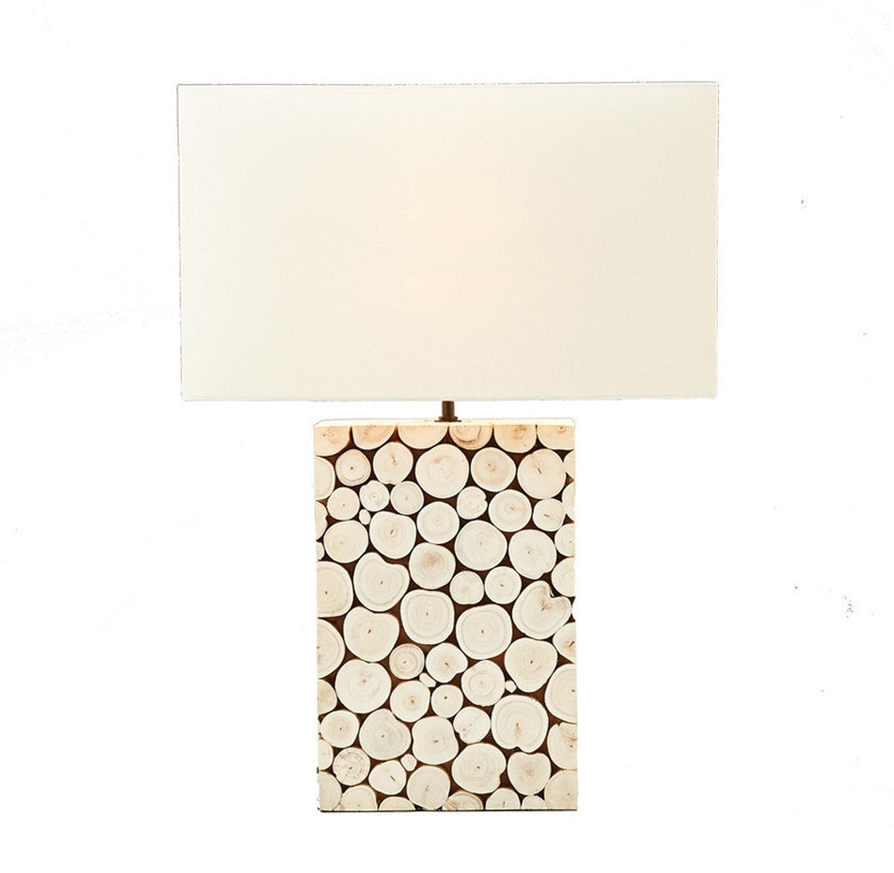Sliced Wood Table Lamp - O'THENTIQUE