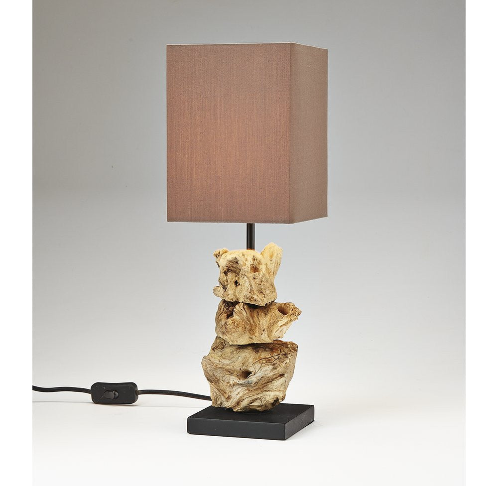 Small Driftwood Table Bedside Lamp - O'THENTIQUE