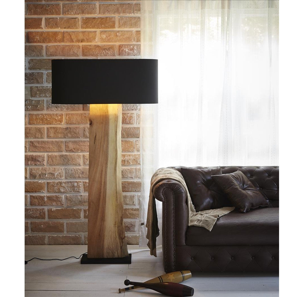 Solid Wood Slab Floor Lamp-OTHENTIQUE-OTHENTIQUE