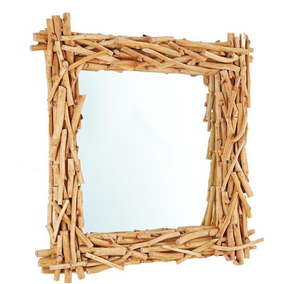 Square Driftwood Mirror-OTHENTIQUE-OTHENTIQUE