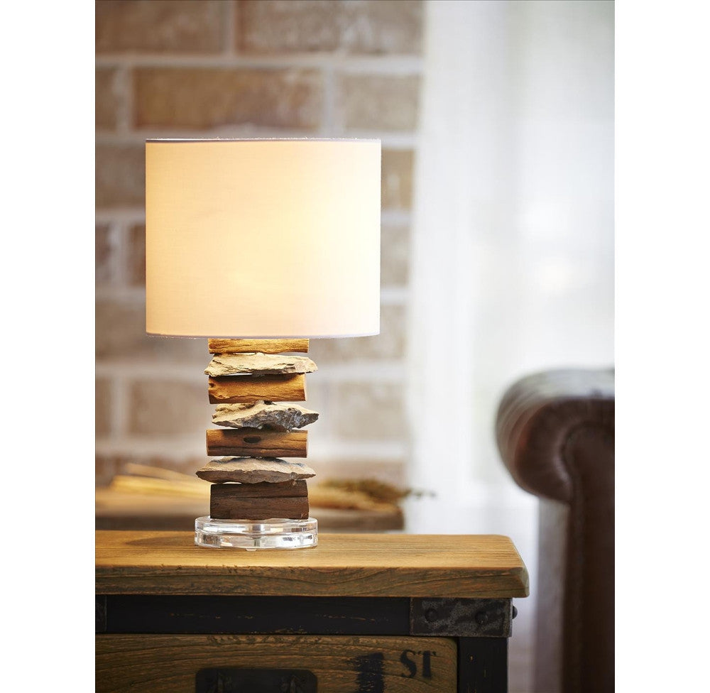 ... Stone And Driftwood Table Lamp   Ou0027THENTIQUE