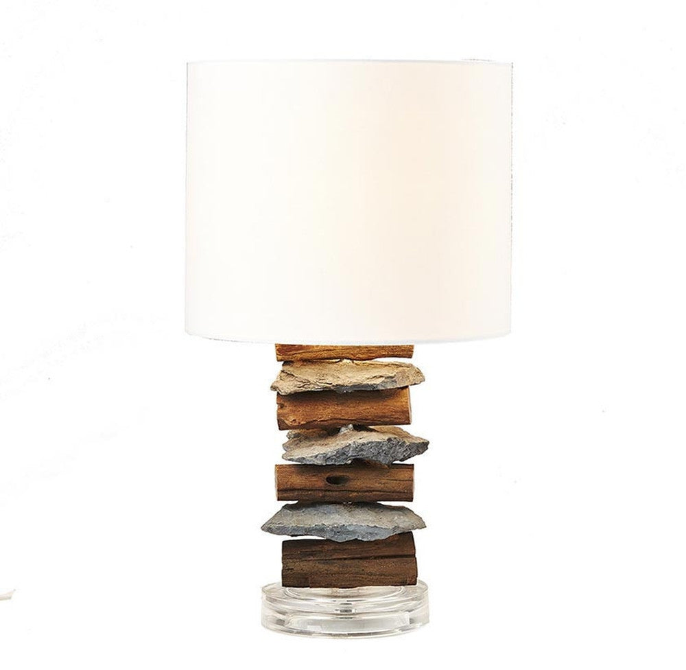 Stone and driftwood table lamp othentique stone and driftwood table lamp othentique othentique mozeypictures Image collections