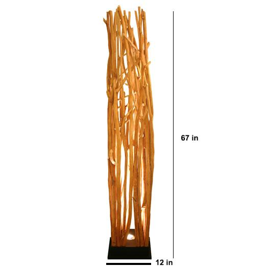The Skove Driftwood Up Light Floor Lamp - O'THENTIQUE